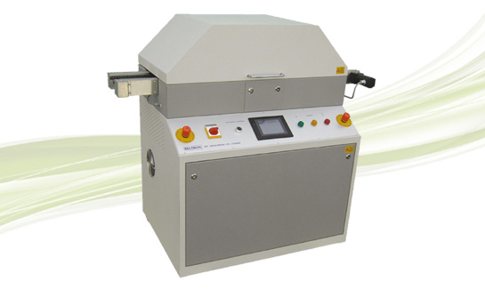 UV dryer with pin chain conveyor for protective paint coatings on single and double sided assembled PCBs