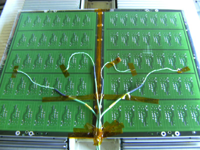 Measuring PCB with 4 measuring points